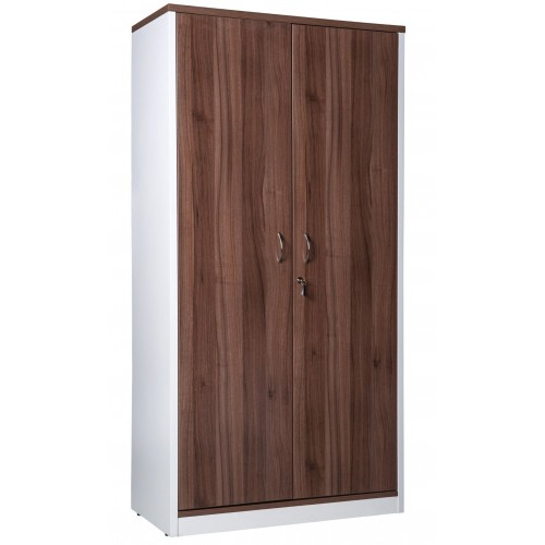 Cupboard Full Doors Lockable in Sepia and White