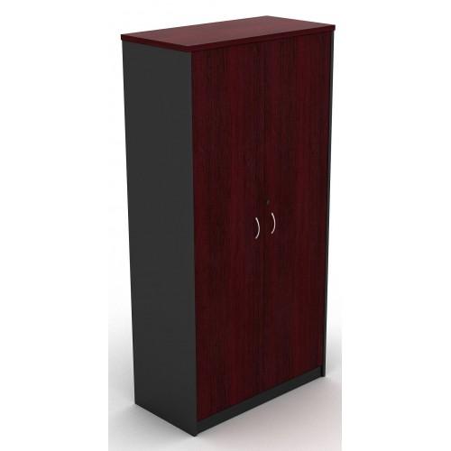 Cupboard Full Doors Lockable in Redwood and Graphite