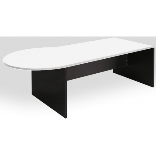 P-Shape Desk 2100mm - White & Graphite