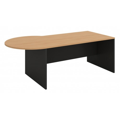 P-Shape Desk  2100mm - Beech & Graphite