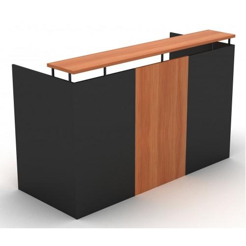 OM Reception Desk Cherry and Graphite