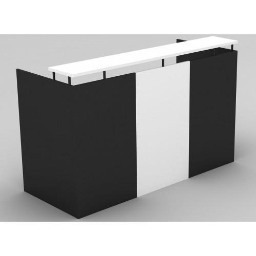 OM Reception Desk White and Graphite