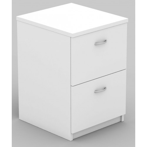 Filing Cabinet - 2 Drawer White