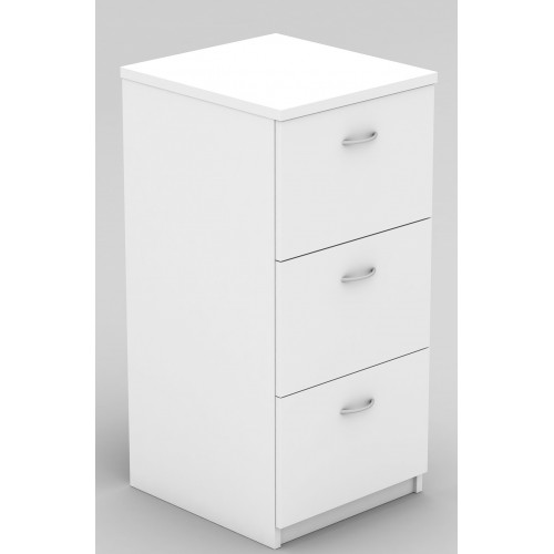 Filing Cabinet - 3 Drawer White