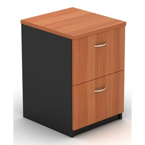 Filing Cabinet - 2 Drawer Cherry and Graphite
