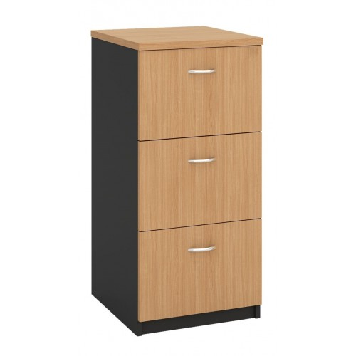 Filing Cabinet - 3 Drawer Beech and Graphite
