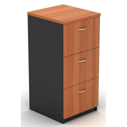 Filing Cabinet - 3 Drawer Cherry and Graphite