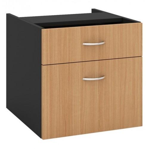 Desk Drawers -2 Drawers Beech & Graphite