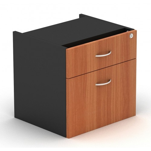 Desk Drawers -2 Drawers Cherry & Graphite