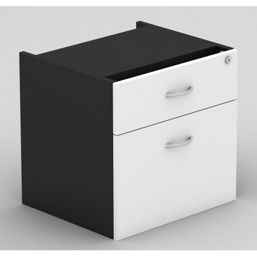 Desk Drawers -2 Drawers White & Graphite