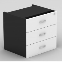 Desk Drawers -3 Drawers White & Graphite