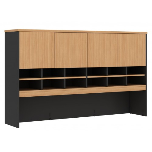 Pigeon Hole Hutch in Beech and Graphite