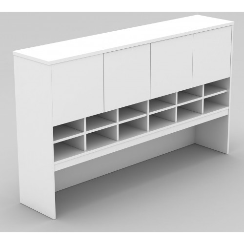 Pigeon Hole Hutch in White