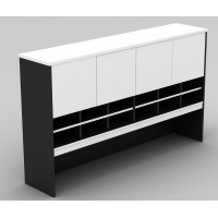 Pigeon Hole Hutch in White and Graphite