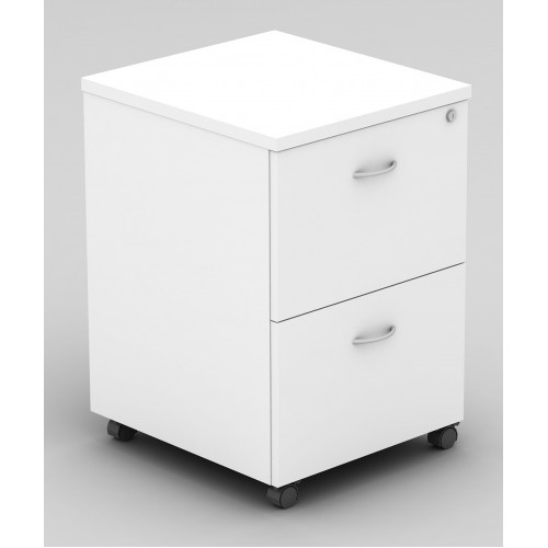 Pedestal Mobile 2 Drawer - All White