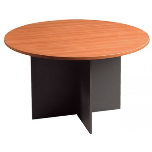 Meeting Table Round Cherry and Graphite
