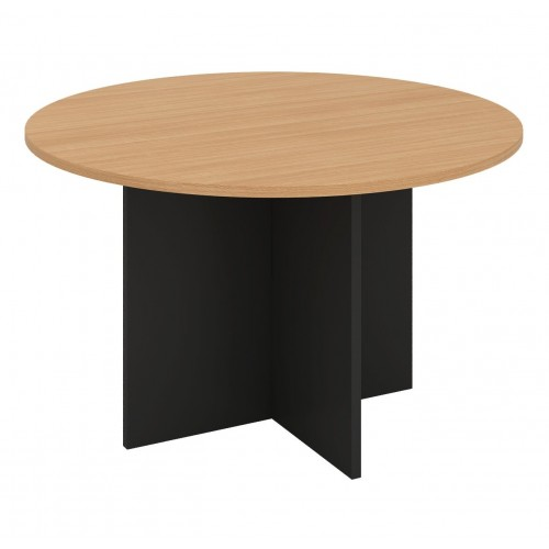 Meeting Table Round Beech and Graphite