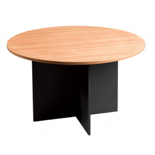 Meeting Table Round in Beech and Graphite