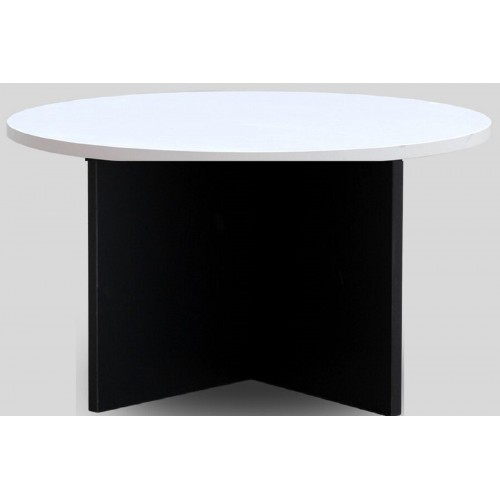 Meeting Table Round White and Graphite