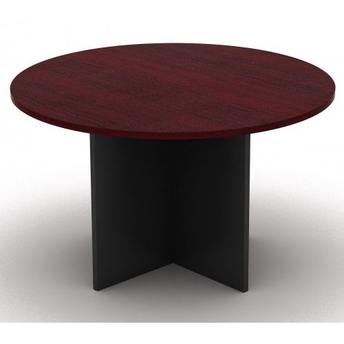 Meeting Table Round Redwood and Graphite