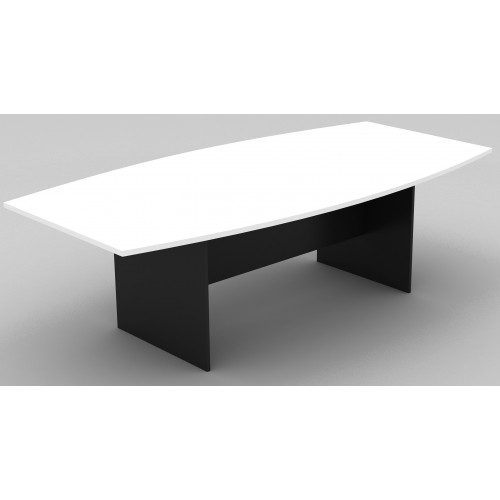 Boardroom Table 2.4m White on Graphite H-Base