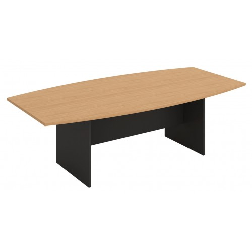 Boardroom Table 2.4m Beech on Graphite H-Base