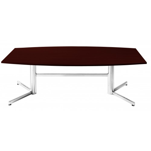 Boardroom Table 2.4m Redwood on Chrome Legs