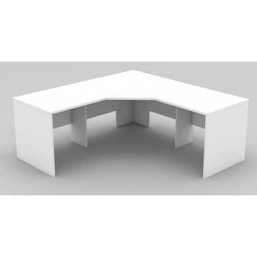 Workstation 3 Piece Corner Desk - All White