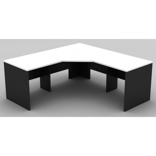 Workstation 3 Piece Corner Desk - White & Graphite