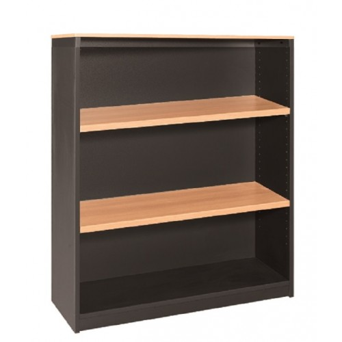 Bookcase in Beech and Graphite - 1200mm High
