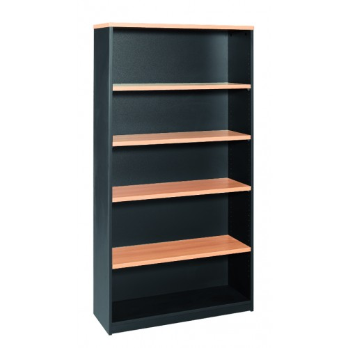 Bookcase in Beech and Graphite - 1800mm High