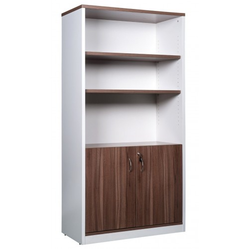 Cabinet Half Doors Lockable - Sepia and White