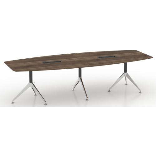 Potenza Boardroom Table 3m Sepia