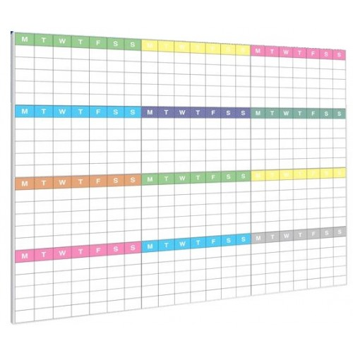 Custom Printed Whiteboard with Slim Frame (Your Logo or Design)