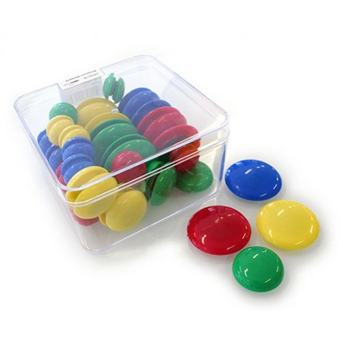 Button Whiteboard Magnets (Pack 48)
