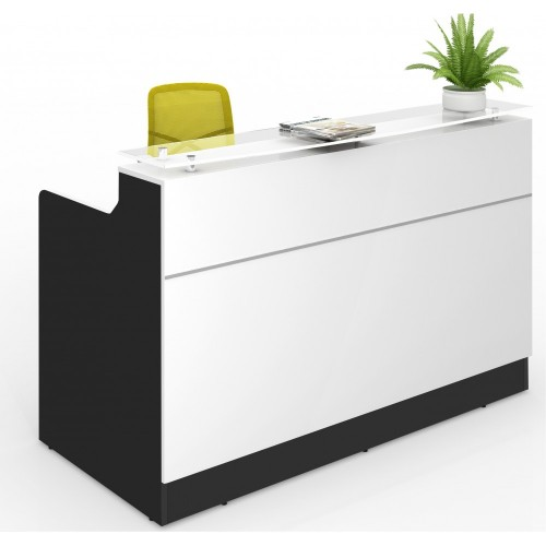 Classic Reception Desk White & Black