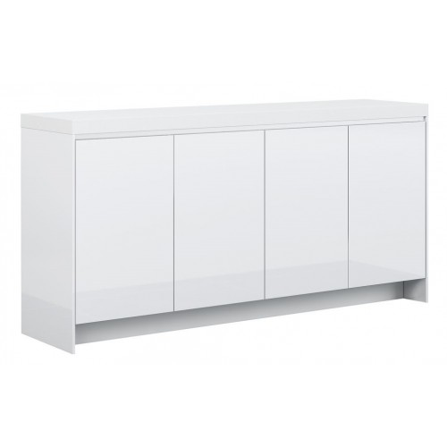 Counter Credenza Hinged Door Gloss White