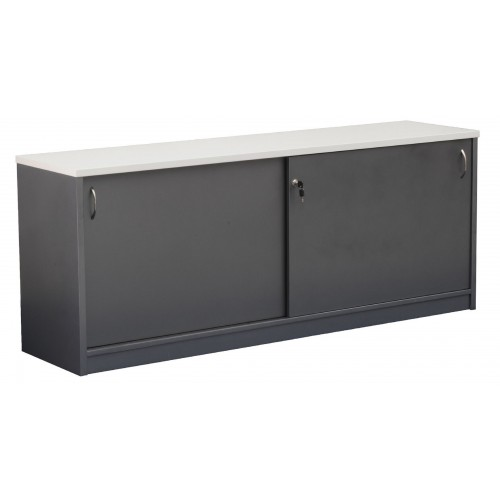 Reception Counter Buffet - Metallic Grey