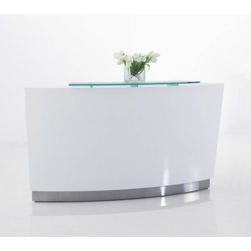 Evo Reception Desk Gloss White
