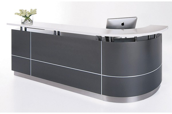 Executive Reception Desk  J-Shape
