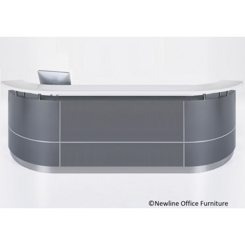Executive Reception Desk C-Shape