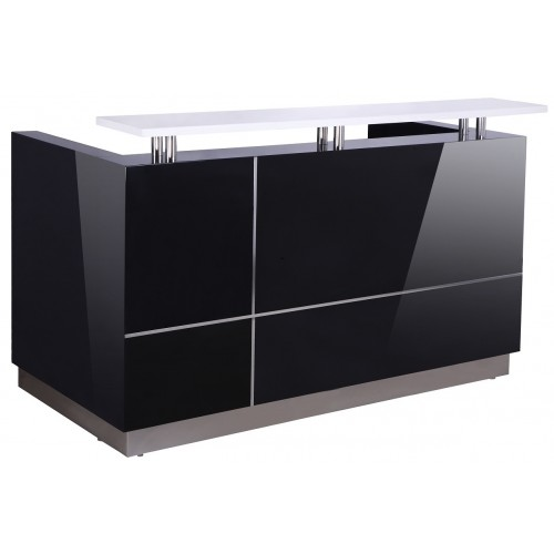 Hugo Reception Desk Gloss Black