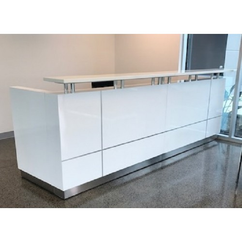 Hugo Plus Reception Desk Gloss White