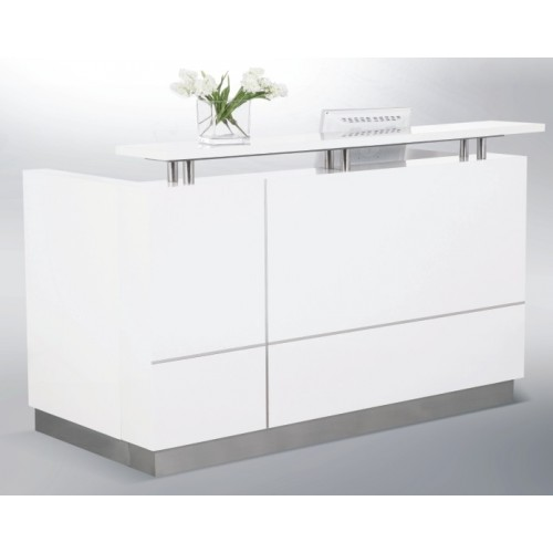 Hugo Reception Desk Gloss White