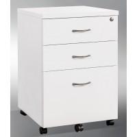 Pedestal Mobile 3 Drawer Gloss White