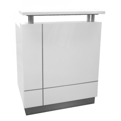 Receptionist Reception Desk Gloss White