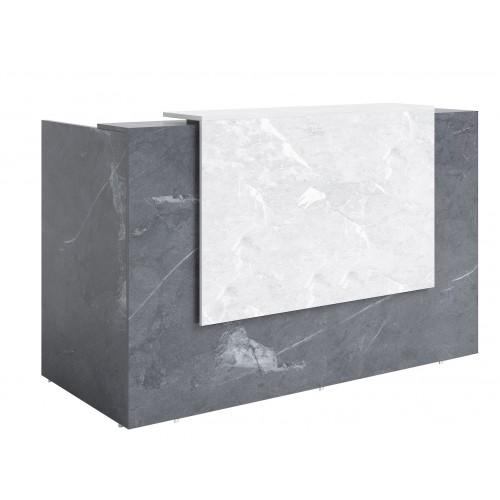 Sorrento Reception Desk 2 SIZES Marble Grey