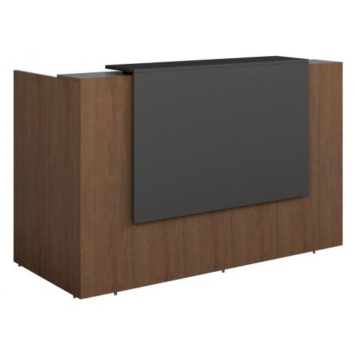 Sorrento Reception Desk 3 SIZES Walnut and Graphite