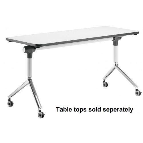 Flip Table White and Chrome