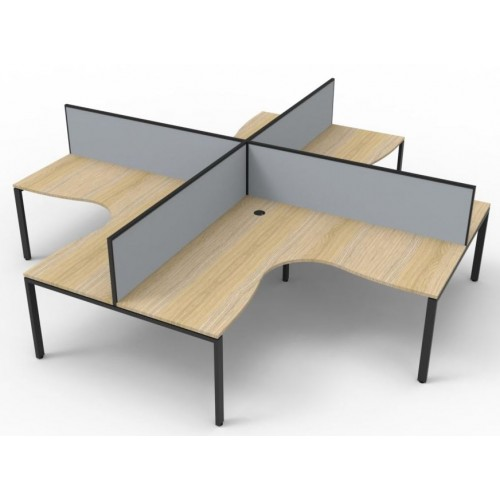 Deluxe Infinity Profile Leg Corner Workstation With or without Screens